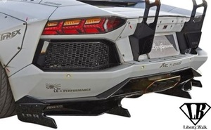 【M's】Lamborghini アヴェンタドール (2011y-) LB-WORKS リアディフューザー Ver.2//カーボン エアロ Liberty Walk リバティーウォーク