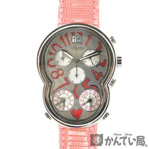 Vo!la【ヴォアラ】Voila トリプルタイムゾーン クロノグラフ NO.8 クオーツ QZ レディース メンズ Dバックル 替えベルト付き 箱 腕時計