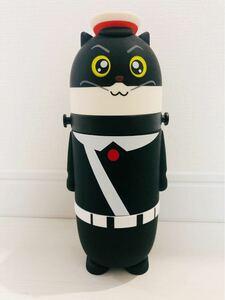 黒猫警察官水筒、ステンレスボトル、保温保冷魔法瓶 ストラップ、すいとう 新品