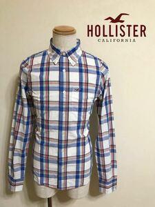 【美品】 HOLLISTER ホリスター ボタンダウン チェック柄 シャツ トップス サイズS 長袖