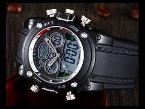 5 1 デジタル腕時計 新品★高級 ファッション タイムウォッチ付 デジタル 限定品 ビンテージ ミリタリー 防水 メンズ