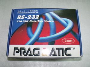 PRAGMATIC (D56LVP-J0E) 56kbpsモデム RS-232C外付型 BOX ★未使用品★