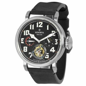 MINORVA ミノルヴァ 自動巻トゥールビヨン 高級腕時計 メンズ ケース幅:45mm 機械式腕時計の最高峰本格フライングトゥールビヨン