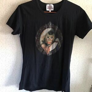 ヴィヴィアン ウエストウッド Vivienne Westwood Tシャツ Lサイズ 絵画 猿 ブラック 黒 綿100% 日本製 インコントロ