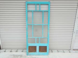 receipt limitation (pick up)! Showa Retro cheap sweets dagashi shop old fittings reform old Japanese-style house reproduction diamond glass door door door old tool 73.6×174.2×3