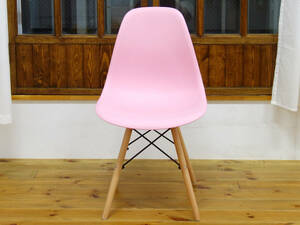 訳あり品 イームズ DSW シェルチェア 椅子 Eames チェア イス DSWチェア 家具 チェアー ダイニング オフィスチェア ピンク / ナチュラル BB