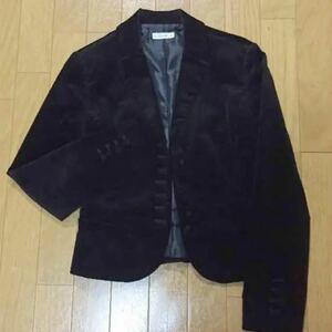 ベロアジャケット ブラック テーラードジャケット