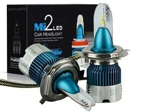 超ミニ型PHILIPSフイリツプ LEDヘッドライトH4 Hi/Lo 12000LM アクティー トラック HA3・4/HA6・7/HA8・9