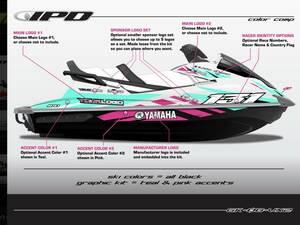 YAMAHA GP1800 IPD ステッカーキット。