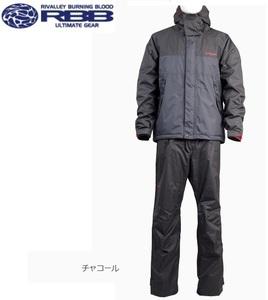 送料無料 リバレイ RL ソリッドウィンタースーツ 6361 チャコール M 新品 防寒 防水 ウィンタースーツ
