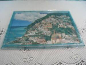 ☆ジグソーパズル・世界遺産「アマルフィ海岸ーイタリア」450ピース・中古組み立て済み