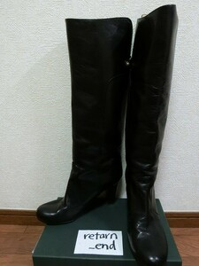 ロングブーツ ブラック 38