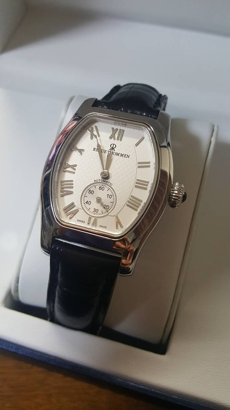 【未使用】 レヴュートーメン REVUE THOMMEN スモールセコンド スイス製 腕時計 自動巻き