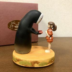 ☆千と千尋の神隠し☆ジオラマ オルゴール カオナシ いつも何度でも スタジオジブリ 陶器製 Sekiguchi 箱付き