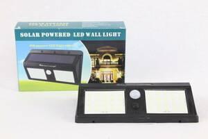 ソーラーパネルライト 40LED / 人感センサー 防犯ライト 自動点灯 防水 太陽光発電