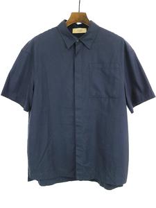 MAISON FLANEUR メゾン フラネウール コットンワイド半袖シャツ ネイビー 48 メンズ