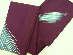 702 絵羽柄きもの 胴抜き仕立て 紫に流線柄 新品