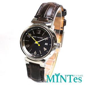 Louis Vuitton ルイヴィトン タンブール レディース腕時計 クォーツ Q1211 ブラウン文字盤×シルバー レディース アンティーク