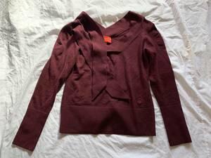 Vivienne Westwood RED LABEL ヴィヴィアン ウエストウッド レッドレーベル ニット セーター トップス エンジ M 送料無料