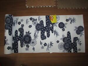 ( кимоно магазин * поставка со склада )( старый ткань *.... цветок узор не использовался юката земля ткань )