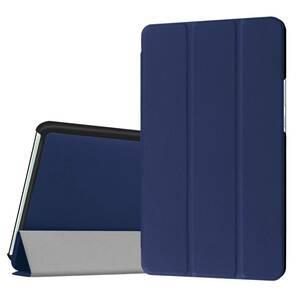 【送料無料】 LeTrade 高級PUレザー  docomo dtab Compact d-01J / Huawei MediaPad M3 8.4インチ スマートケース  ネイビー ブルー