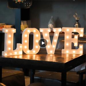 16㎝ led文字ナイトライト アルファベットバッテリーホーム電球 壁装飾パーティー 結婚式誕生日 バレンタインデーギフト k-1247