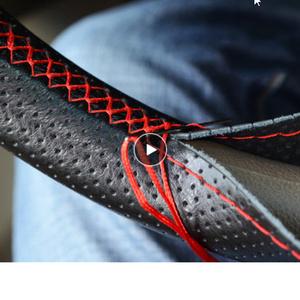 ステアリングホイール 車 ステアリングホイール 針 カバーと人工皮革直径 38 センチメートル ステアリングカバー k-1075
