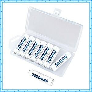 【新品】Soxono 単3形充電池 AA充電池 充電式ニッケル水素電池2800mAh 8本入り ケ C18SQGNHYR