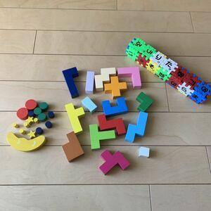 知育玩具 まとめ売り ブロック ひらがな 天然木