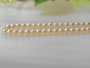 アコヤ真珠 SV ネックレス アコヤパール 天然真珠 6mm