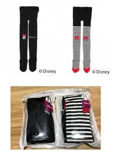 New Global Work × Disney Collaboration Most Most Popular Milk Tights 2 Pieces Set Black & Border Kids Clothing