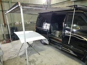 FIAMMA フィアマ サイドオーニング クランクハンドル付き キャンピングカー 移動販売車 軽キャン バンコン アストロ ダッジ GMC DIY