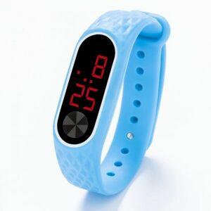 子供の腕時計 Led デジタルスポーツウォッチ少年少女メンズ ・ レディース ・ 電子シリコンブレスレット腕時計リロイニノ Sky Blue Red