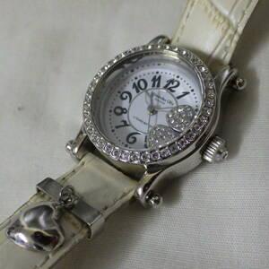 Alessandra Olla アレサンドラオーラ クオーツ 腕時計 AO-4100-1 型押しクロコレザーベルト ラインストーン 電池は付属しません。