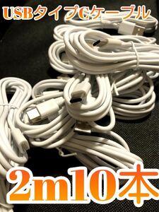 大好評!USBタイプCケーブル2m10本 12111040