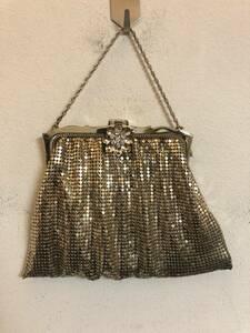 ビンテージ WHITING&EAVIS CO. アメリカ製 パーティーバッグ ミニバッグ 結婚式 二次会 レトロ 鞄 雑貨 服飾 1224