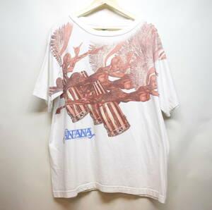 [XL] レア 95' SANTANA 大判 プリント Tシャツ コピーライト入り サンタナ バンド ラテン ロック 90s vintage ビンテージ 希少 手刷り