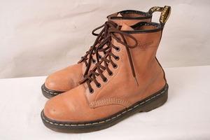 英国製ドクターマーチン UK8/26.5cm~27.0cm/8ホール イングランド カラー レザー ブーツ メンズ DR.Martens 中古 dh2852