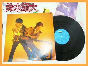LP 鈴木雄大 YUDAI SUZUKI 歌詞カード 83年 ETP-90252 MIDNIGHT CHANCE レイニー・サマー MIRACLE OF LOVE 定形外OK