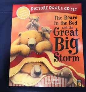 大型英語絵本 CD付き The Bears in the bed and th