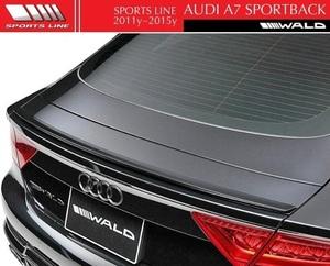 【M's】アウディ A7 SportBack 4GC(2011y-2015y)WALD SPORTS LINE トランクスポイラー//FRP製 ヴァルド スポーツライン エアロ 正規品