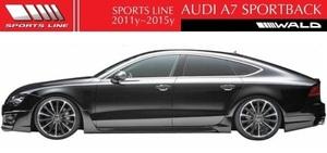 【M's】アウディ A7 SportBack 4GC(2011y-2015y)WALD SPORTS LINE サイドステップ (左右)//FRP製 正規品 ヴァルド スポーツライン