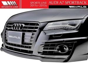 【M's】アウディ A7 SportBack 4GC(2011y-2015y)WALD スポーツライン フロントハーフスポイラー//FRP製 バルド ヴァルド SPORTS LINE