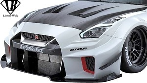 【M's】NISSAN R35 GT-R (2007y-) LB-Silhouette WORKS GT 35GT-RR Fカナード+Fディフューザー//FRP Liberty Walk リバティーウォーク