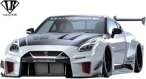【M's】ニッサン R35 GT-R (2007y-) LB-Silhouette WORKS GT 35GT-RR フロントバンパー//カーボン Liberty Walk リバティーウォーク