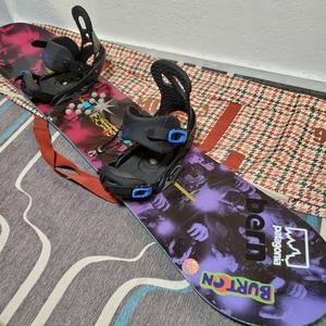 スノーボード バートン セット ボード ビンディング ケース リーシュコード