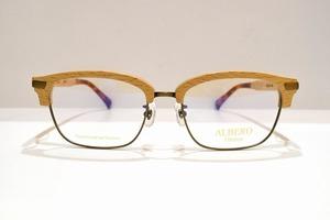 ALBERO(アルべロ)AB-701 col.IVメガネフレーム新品めがね鯖江眼鏡サングラス天然木 日本製 ブロー