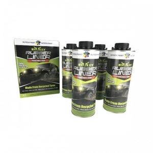 4本セット!送料無料!BullyLinerブリーライナー ベッドライナー チップペイント高耐久水性塗料ミッドナイト(黒)
