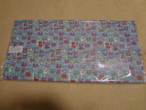 新品。かわいいクリスマス柄の包装紙、5枚セット、水色