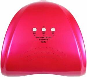 ★1円★訳あり 36W LED&UVネイルライト CCFL不使用 自動センサー ジェルネイル レジン (ローズ)